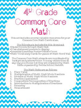 Common Core Math Unit Binder & Word Wall