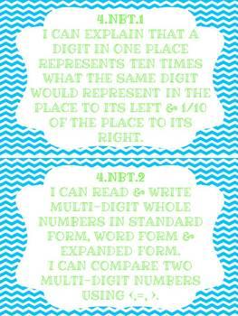Common Core Math Unit Binder & Word Wall