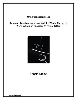 Common Core Math Unit Post-Assessment: Place Value/Whole Numbers/Computation