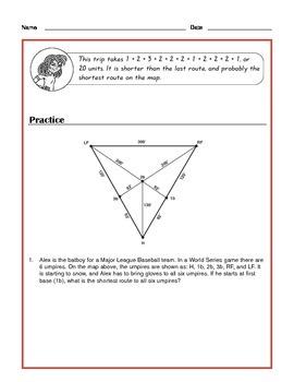 Common Core Math: Vertex-Edge Graphs & Algorithmic Thinking- Tutorial & Practice
