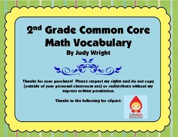 Common Core Math Vocabulary: 2nd Grade