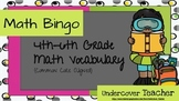 Common Core Math Vocabulary Bingo Game (6 different boards)  - Math Stations