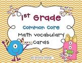 Common Core Math Vocabulary Cards {1st Grade}