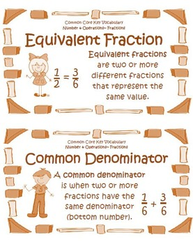 Common Core Math Vocabulary Bundle for Grades 3 4 and 5