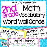 Math Vocabulary Cards for 2nd Grade {Common Core}