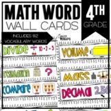 Common Core Math Vocabulary Cards for 4th Grade