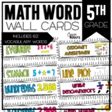 Common Core Math Vocabulary Cards for 5th Grade