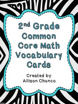 Common Core Math Vocabulary Cards_2nd Grade