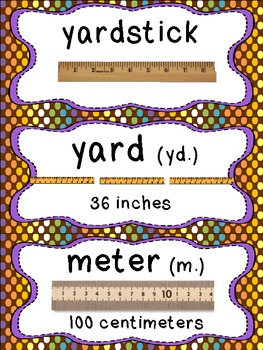 Common Core Math Vocabulary Cards_2nd Grade_Brown Polka Dots