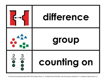 Common Core Math Vocabulary Cue Cards (1st Grade)