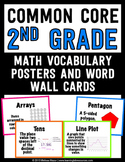 Common Core Math Vocabulary Posters and Word Wall Words - 2nd (Second) Grade