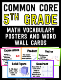 Common Core Math Vocabulary Posters and Word Wall Words - 5th (Fifth) Grade