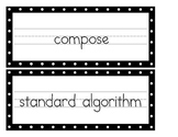 Common Core Math Vocabulary - Set 1