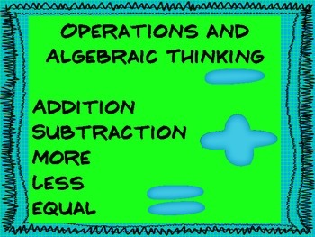Common Core Math Vocabulary for Kindergarten