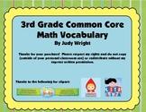 Common Core Math Vocabulary for 3rd Grade
