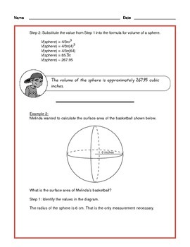 Common Core Math: Volume and Surface Area of a Sphere - Tutorial and Practice