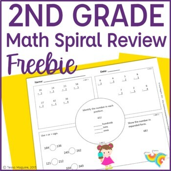 2nd Grade Math Spiral Review | 2nd Grade Math Warm Up | 2nd Morning ...