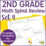 2nd Grade Spiral Review | 2nd Grade Math Warm Up | 2nd Grade Morning Work- Set 4