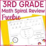 3rd Grade Math Spiral Review- Free Set