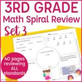 3rd Grade Math Spiral Review Morning Work- Set 3