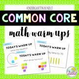 Common Core Math Warm Ups Bundle (K)