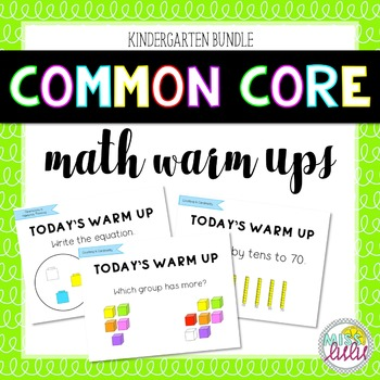 Common Core Math Warm Ups Bundle (K)