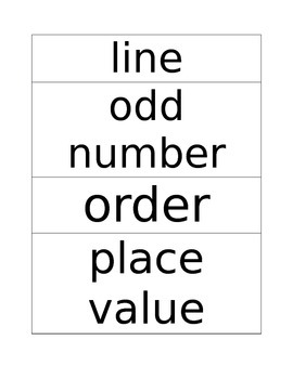 Common Core Math Word Cards/Word Wall Words