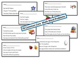 Common Core Math Word Problem Set - 1st Grade