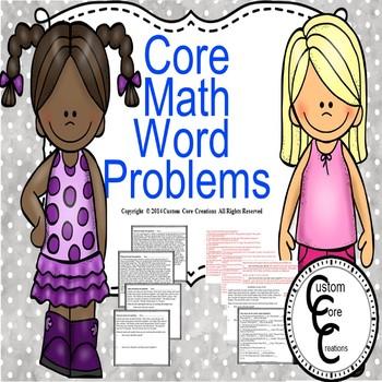 Core Math Word Problems 3-5 grade