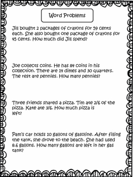 Word Problems: 3rd Grade