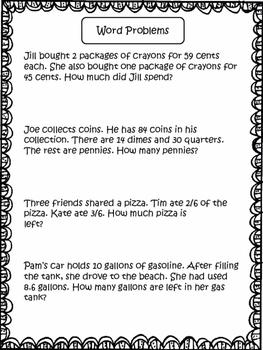 Word Problems: 3rd Grade