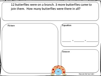 Common Core Math Word Problems - Insect Math Fun for Elementary Students