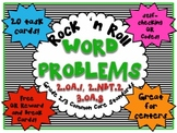 QR - Common Core Math Word Problems - Rock 'n Roll with QR Codes