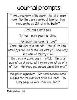 Math Word Problems for Fall