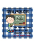 Common Core Math Word Problems for First Grade