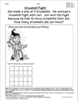 Common Core Math Word Problems for First Grade - Set 2
