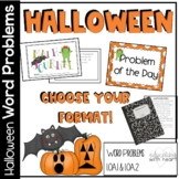 Common Core Math Word Problems for Halloween
