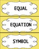 Common Core Math Word Wall