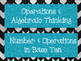 Common Core Math Word Wall (Black &Gray Background with Aq