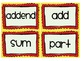 Common Core Math Word Wall for Second Grade