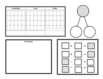 Common Core Math Work Mat
