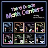 Math Stations for Third Grade Bundle