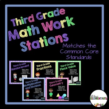 Math Stations for Third Grade CCSS