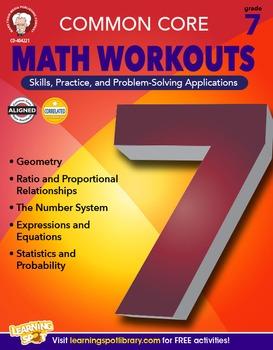 Common Core Math Workouts Grade 7 20% OFF! 404221
