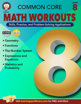 Common Core Math Workouts Grade 8 20% OFF! 404222