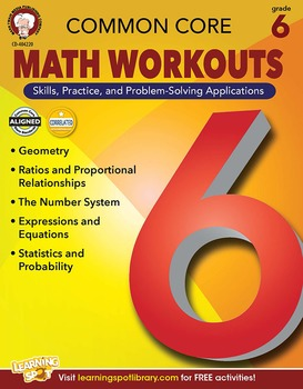 Common Core Math Workouts Grade 6 SALE 20% OFF! 404220