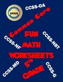 5th Grade Common Core Math Worksheets