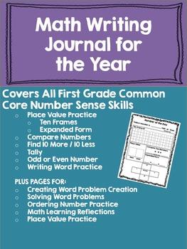 Common Core Math Writing Journal