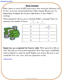 Common Core Math Writing Prompts Set 1 for Google Drive®