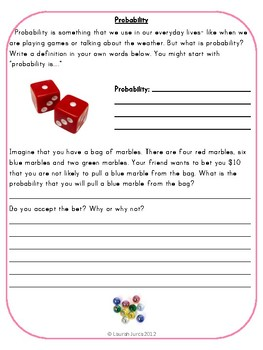 Common Core Math Writing Prompts Set 3